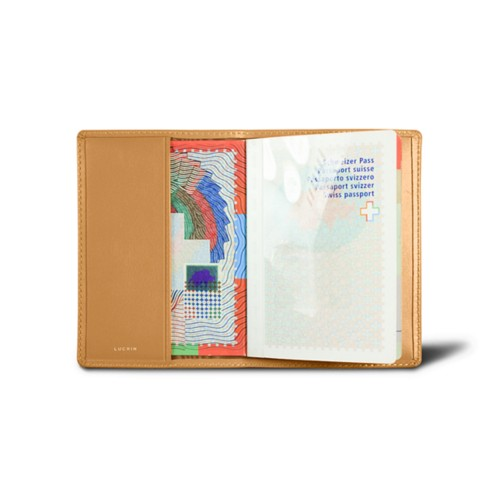 Universal passport cover - Natural - Smooth Leather