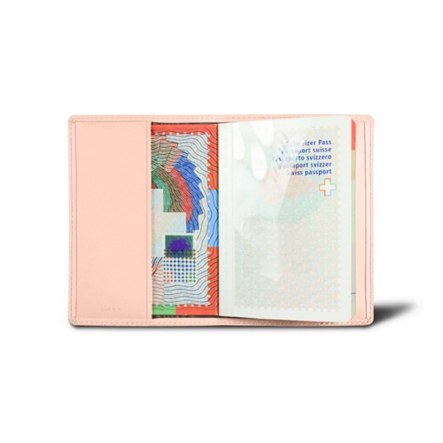 Universal passport cover - Nude - Smooth Leather