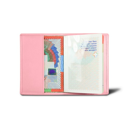 Universal passport cover - Pink - Smooth Leather
