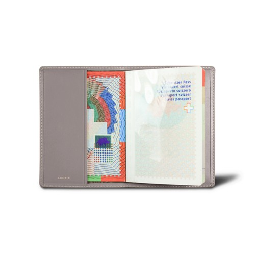 Universal Passport Cover - Light Taupe - Smooth Leather