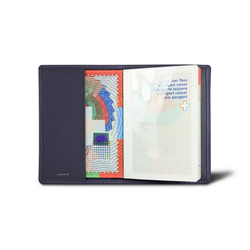 Universal passport cover - Purple - Smooth Leather
