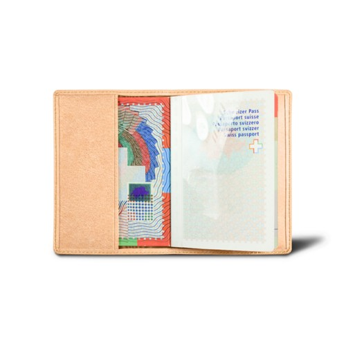 Universal passport cover - Natural - Vegetable Tanned Leather