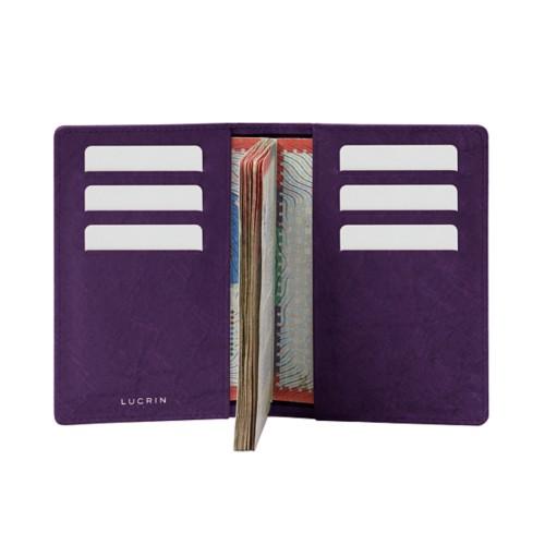Luxury passport holder - Purple - Real Ostrich Leather