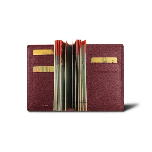 Luxury passport holder - Burgundy - Goat Leather