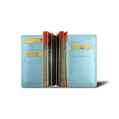 Luxury passport holder - Sky Blue - Goat Leather