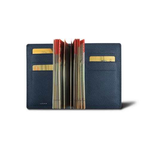 Luxury passport holder - Navy Blue - Goat Leather