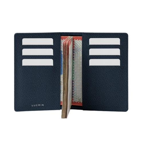 Luxury Passport Holder - Navy Blue - Goat Leather