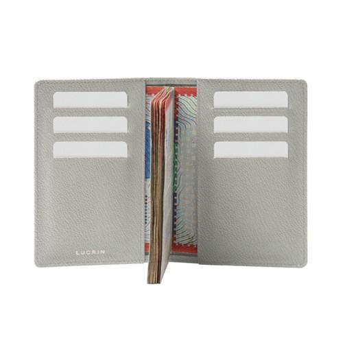 Luxury passport holder - White - Goat Leather