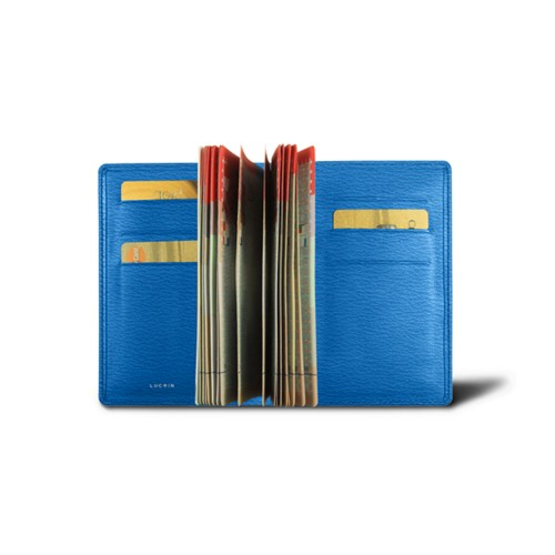 Luxury passport holder - Royal Blue - Goat Leather