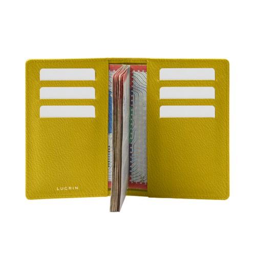 Luxe paspoorthouder - Citroengeel - Geitenleer