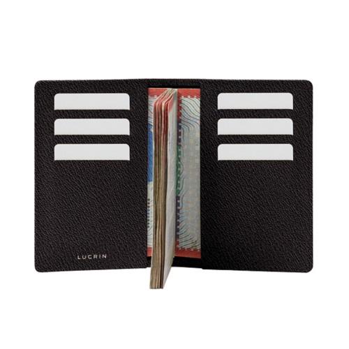 Luxury passport holder - Dark Brown - Goat Leather