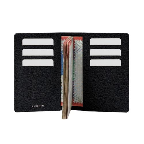 Luxury passport holder - Black - Goat Leather