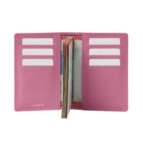 Luxury passport holder - Pink - Goat Leather