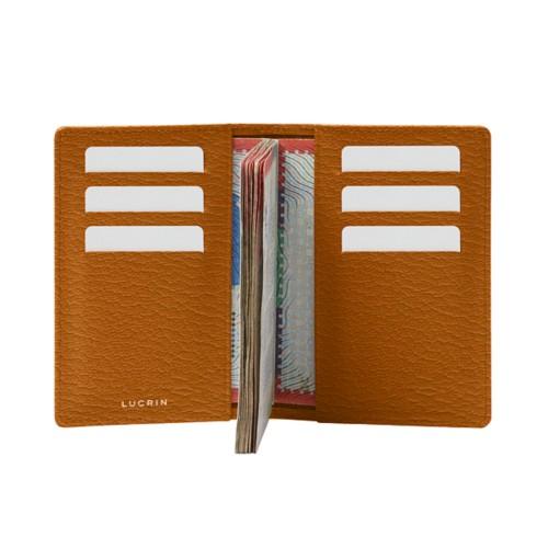 Luxury passport holder - Saffron - Goat Leather
