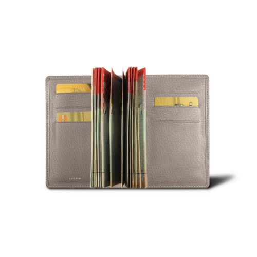 Luxury Passport Holder - Light Taupe - Goat Leather