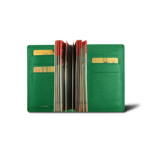 Luxury passport holder - Light Green - Goat Leather
