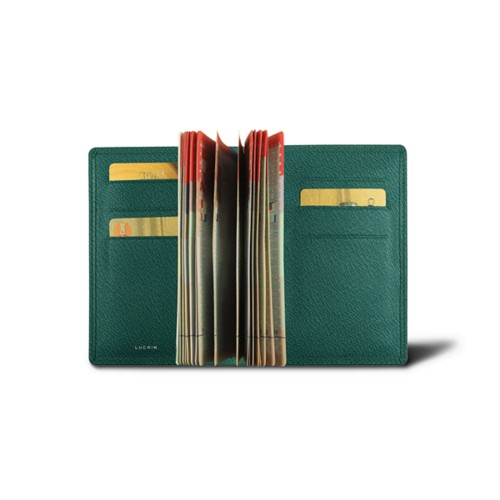Luxury passport holder - Dark Green - Goat Leather