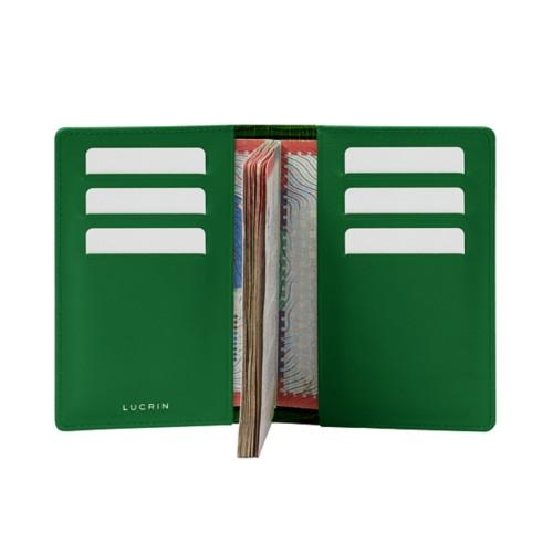 Luxury passport holder - Light Green - Crocodile style calfskin