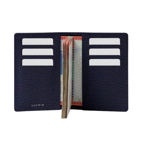 Luxury passport holder - Navy Blue - Granulated Leather