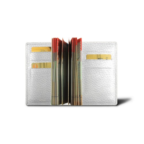 Luxury passport holder - White - Granulated Leather