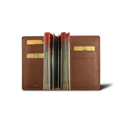 Luxury passport holder - Tan - Granulated Leather