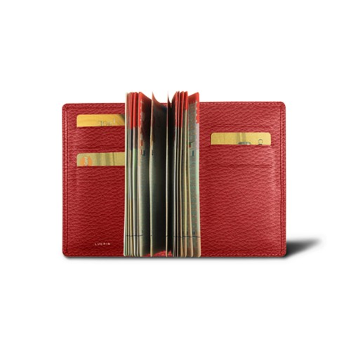 Luxury passport holder - Red - Granulated Leather