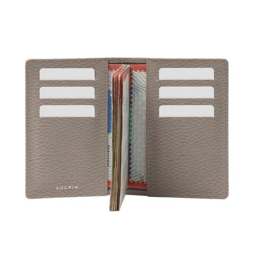 Luxury passport holder - Light Taupe - Granulated Leather