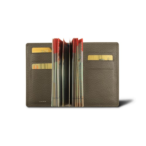 Luxury passport holder - Dark Taupe - Granulated Leather