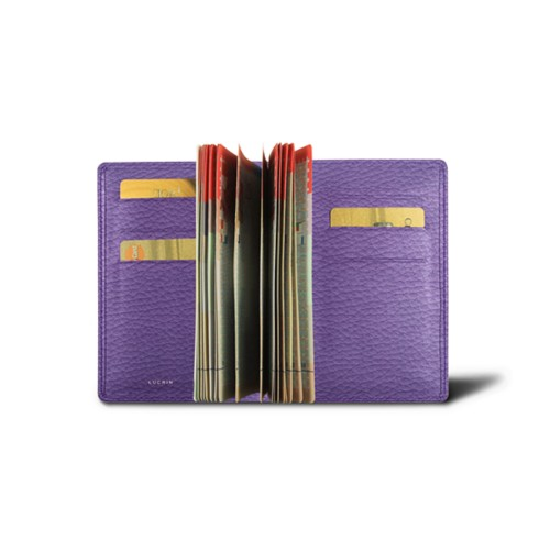 Luxe paspoorthouder - Lavendel - Korrelig Leer