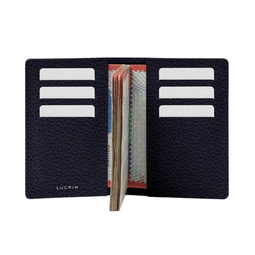 Luxury passport holder - Purple - Granulated Leather