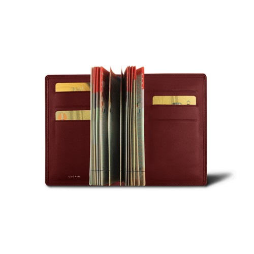 Luxury passport holder - Burgundy - Smooth Leather