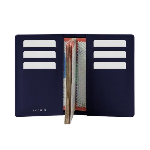 Luxury passport holder - Navy Blue - Smooth Leather