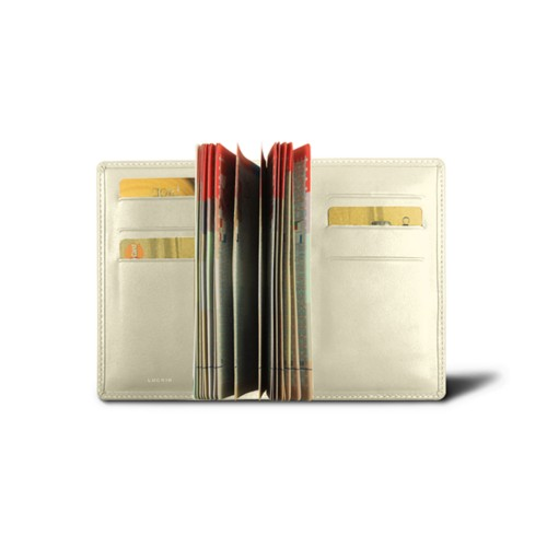 Luxury passport holder - Off-White - Smooth Leather