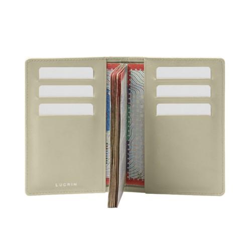 Luxury Passport Holder - Off-White - Smooth Leather