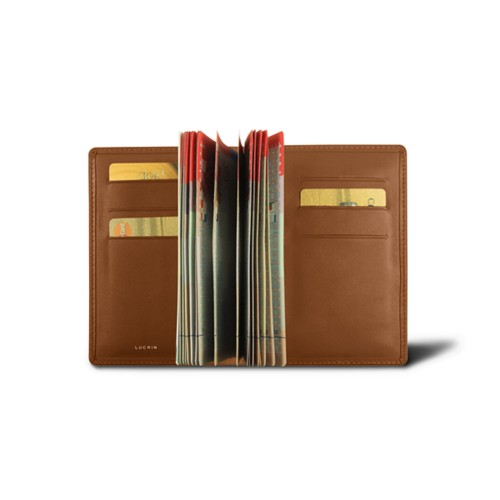 Luxury passport holder - Tan - Smooth Leather