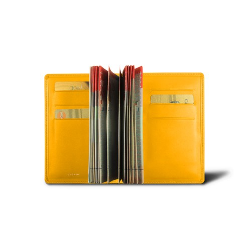 Luxury passport holder - Sun Yellow - Smooth Leather