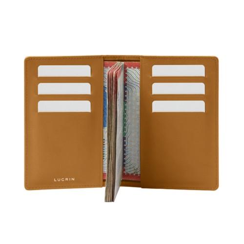 Luxury passport holder - Natural - Smooth Leather