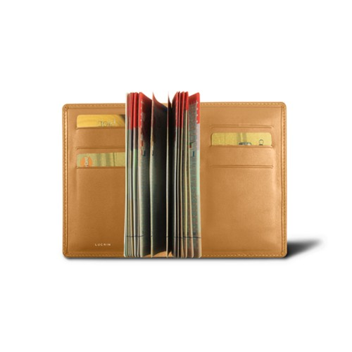 Luxury passport holder - Natural - Smooth Leather