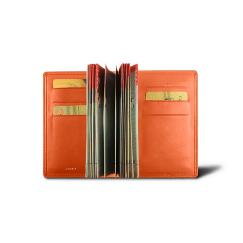 Luxury passport holder - Orange - Smooth Leather