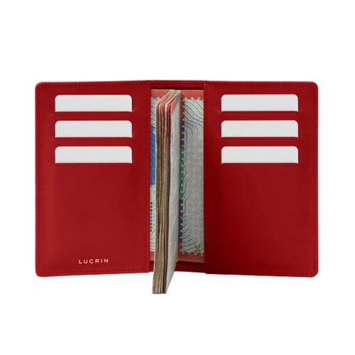 Luxury Passport Holder - Red - Smooth Leather