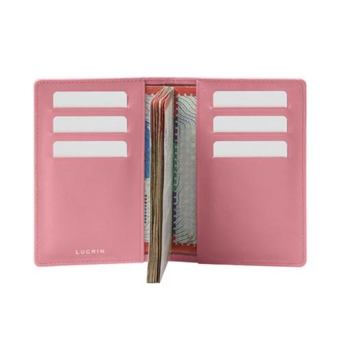 Luxury passport holder - Pink - Smooth Leather