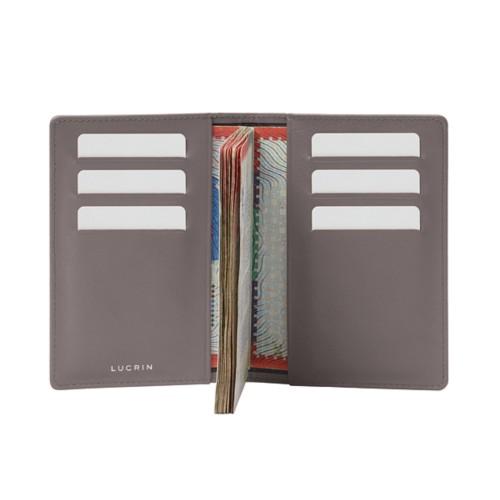 Luxury passport holder - Light Taupe - Smooth Leather