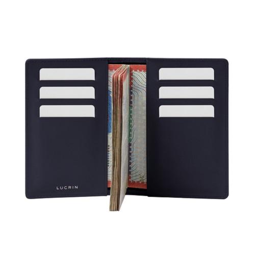 Luxury passport holder - Purple - Smooth Leather