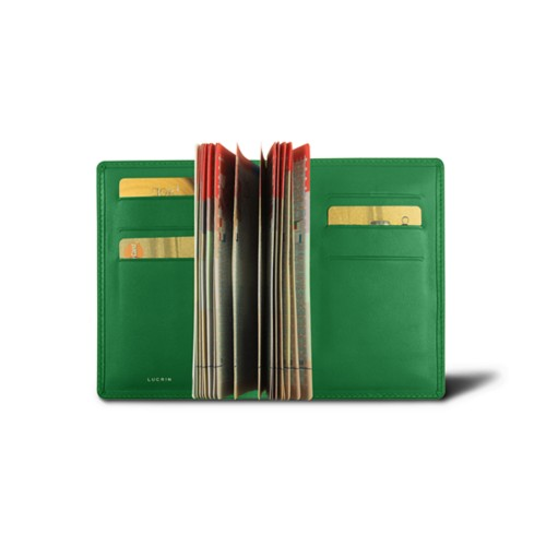 Luxury passport holder - Light Green - Smooth Leather