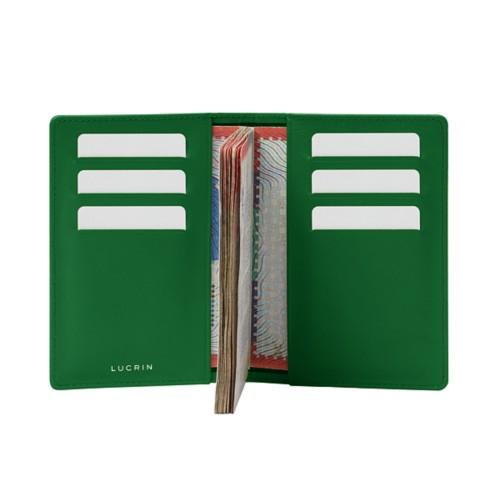 Luxury passport holder - Light Green - Smooth Leather