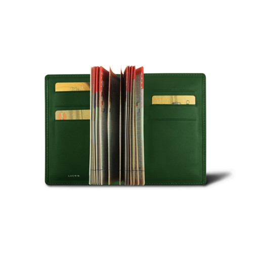 Luxury passport holder - Dark Green - Smooth Leather
