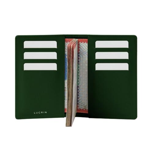 Luxury passport holder - Dark Green - Smooth Leather