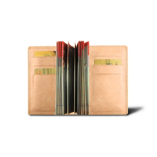 Luxury passport holder - Natural - Vegetable Tanned Leather