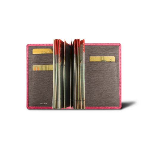 Luxury bicolour passport holder
