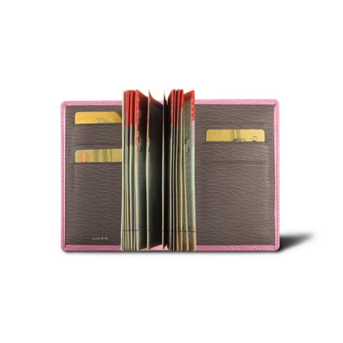 Porta pasaporte de lujo bicolor